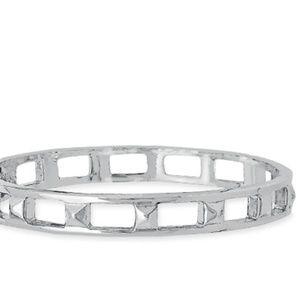 Silver Hinged Bangle Bracelet  *NEW*